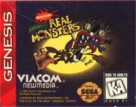 Cartridge artwork for AAAHH!!! Real Monsters on the Sega Nomad.