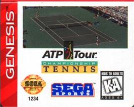 Cartridge artwork for ATP Tour Championship Tennis on the Sega Nomad.