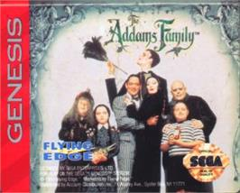 Cartridge artwork for Addams Family, The on the Sega Nomad.