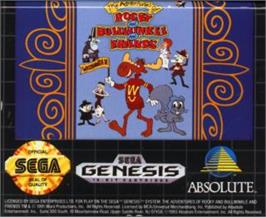 Cartridge artwork for Adventures of Rocky and Bullwinkle, The on the Sega Nomad.