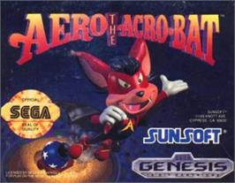 Cartridge artwork for Aero the Acro-Bat on the Sega Nomad.
