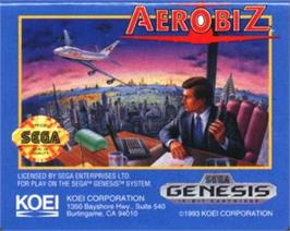 Cartridge artwork for Aerobiz on the Sega Nomad.