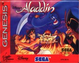 Cartridge artwork for Aladdin on the Sega Nomad.