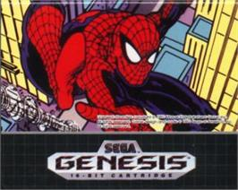 Cartridge artwork for Amazing Spider-Man vs. The Kingpin, The on the Sega Nomad.