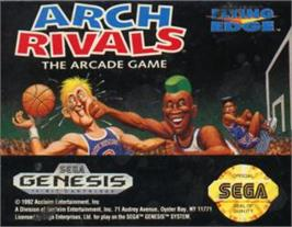 Cartridge artwork for Arch Rivals on the Sega Nomad.