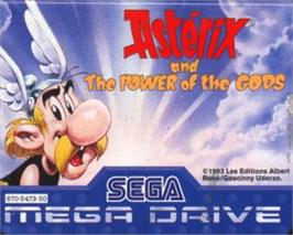Cartridge artwork for Asterix and the Power of the Gods on the Sega Nomad.