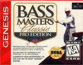Cartridge artwork for Bass Masters Classic Pro Edition on the Sega Nomad.