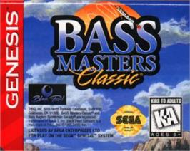 Cartridge artwork for Bass Masters Classics on the Sega Nomad.
