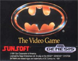 Cartridge artwork for Batman: Return of the Joker on the Sega Nomad.