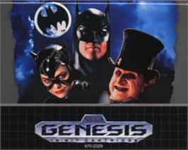 Cartridge artwork for Batman Returns on the Sega Nomad.