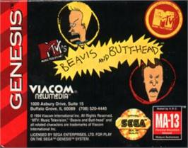 Cartridge artwork for Beavis and Butt-head on the Sega Nomad.