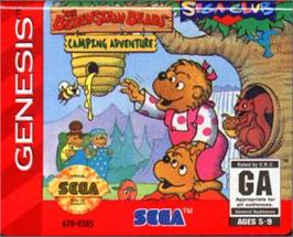 Cartridge artwork for Berenstain Bears' Camping Adventure, The on the Sega Nomad.