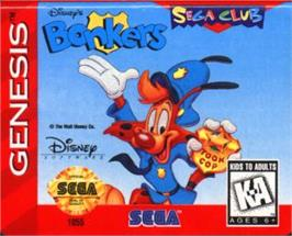 Cartridge artwork for Bonkers on the Sega Nomad.