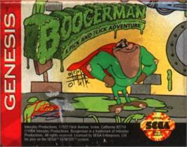 Cartridge artwork for Boogerman: A Pick and Flick Adventure on the Sega Nomad.