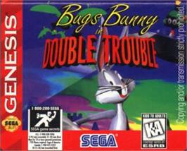 Cartridge artwork for Bugs Bunny in Double Trouble on the Sega Nomad.