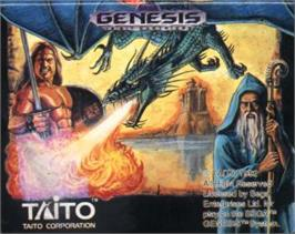 Cartridge artwork for Cadash on the Sega Nomad.