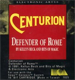 Cartridge artwork for Centurion: Defender of Rome on the Sega Nomad.