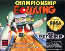 Cartridge artwork for Championship Bowling on the Sega Nomad.