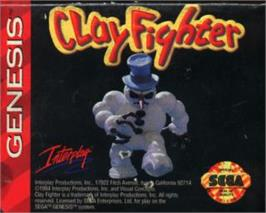 Cartridge artwork for Clay Fighter on the Sega Nomad.