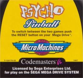 Cartridge artwork for Codemasters 2 in 1: Fantastic Dizzy & Cosmic Spacehead on the Sega Nomad.