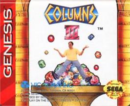 Cartridge artwork for Columns III on the Sega Nomad.