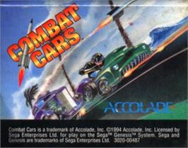 Cartridge artwork for Combat Cars on the Sega Nomad.