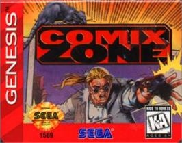 Cartridge artwork for Comix Zone on the Sega Nomad.