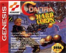 Cartridge artwork for Contra Hard Corps on the Sega Nomad.