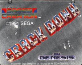 Cartridge artwork for Crack Down on the Sega Nomad.