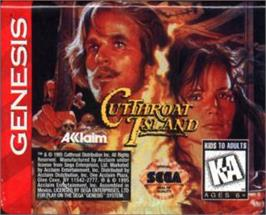 Cartridge artwork for Cutthroat Island on the Sega Nomad.