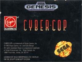 Cartridge artwork for Cyber-Cop on the Sega Nomad.