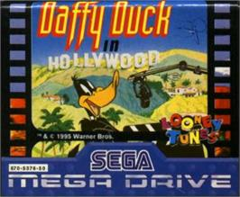 Cartridge artwork for Daffy Duck in Hollywood on the Sega Nomad.