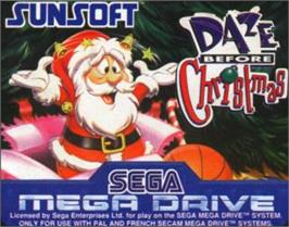 Cartridge artwork for Daze Before Christmas on the Sega Nomad.