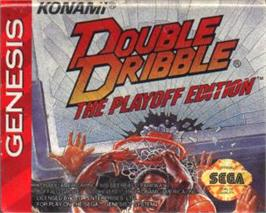 Cartridge artwork for Double Dribble: The Playoff Edition on the Sega Nomad.
