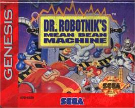 Cartridge artwork for Dr. Robotnik's Mean Bean Machine on the Sega Nomad.