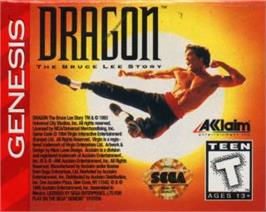 Cartridge artwork for Dragon: The Bruce Lee Story on the Sega Nomad.