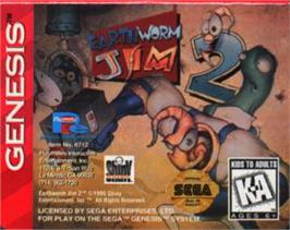 Cartridge artwork for Earthworm Jim 2 on the Sega Nomad.