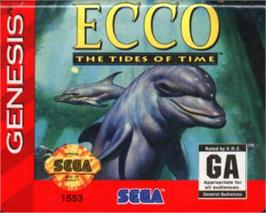 Cartridge artwork for Ecco 2: The Tides of Time on the Sega Nomad.