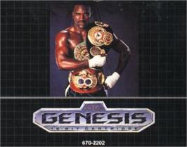 Cartridge artwork for Evander Holyfield's