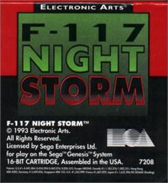 Cartridge artwork for F-117 Night Storm on the Sega Nomad.