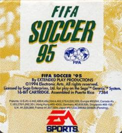 Cartridge artwork for FIFA 95 on the Sega Nomad.