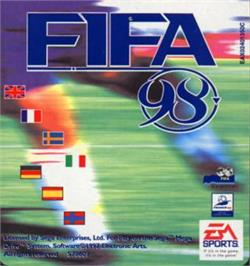 Cartridge artwork for FIFA 98: Road to World Cup on the Sega Nomad.