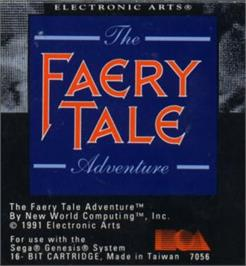 Cartridge artwork for Faery Tale Adventure, The on the Sega Nomad.