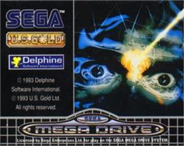 Cartridge artwork for Flashback on the Sega Nomad.