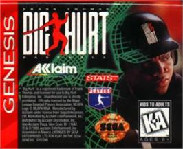 Cartridge artwork for Frank Thomas Big Hurt Baseball on the Sega Nomad.
