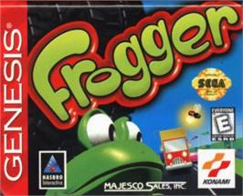 Cartridge artwork for Frogger on the Sega Nomad.