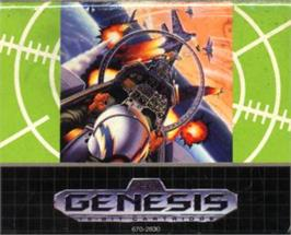 Cartridge artwork for G-Loc Air Battle on the Sega Nomad.