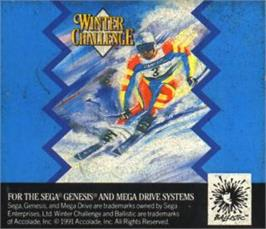 Cartridge artwork for Games: Winter Challenge, The on the Sega Nomad.