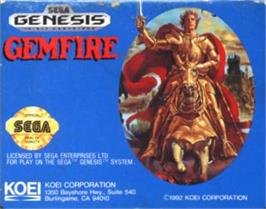 Cartridge artwork for Gemfire on the Sega Nomad.