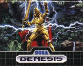Cartridge artwork for Ghouls'n Ghosts on the Sega Nomad.